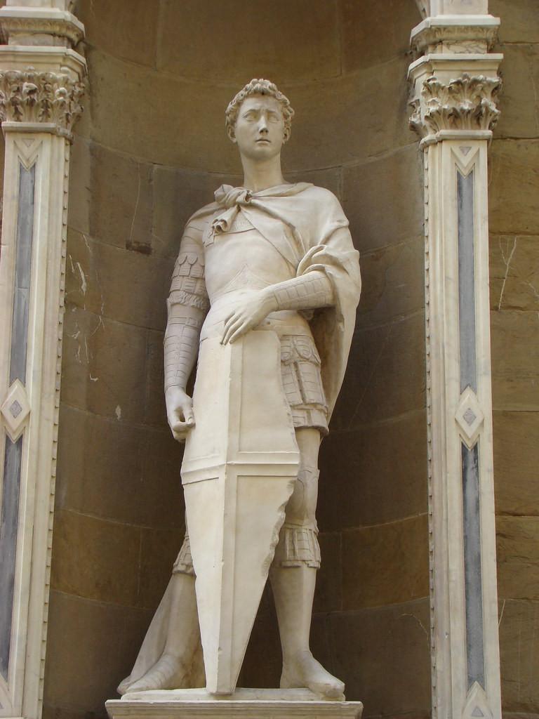 Donatello, St. George and the Dragon, 1416