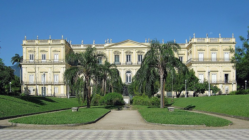 the neoclassical Adjuda Palace in Belem