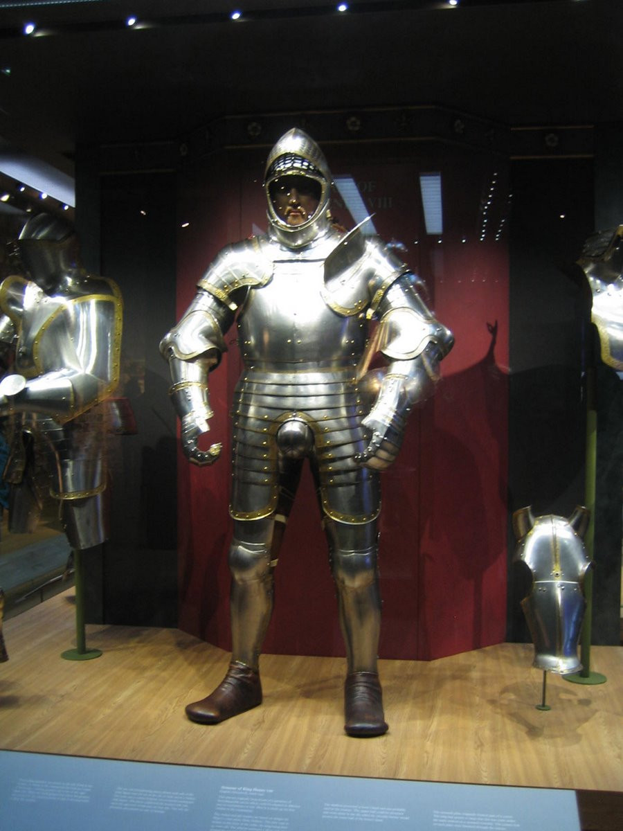 the 1540 armor of Henry VIII, which weighed 80 pounds