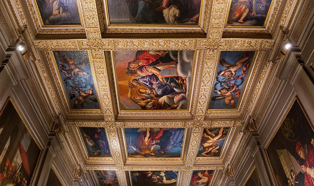 ceiling frescos in Casa Buonarroti