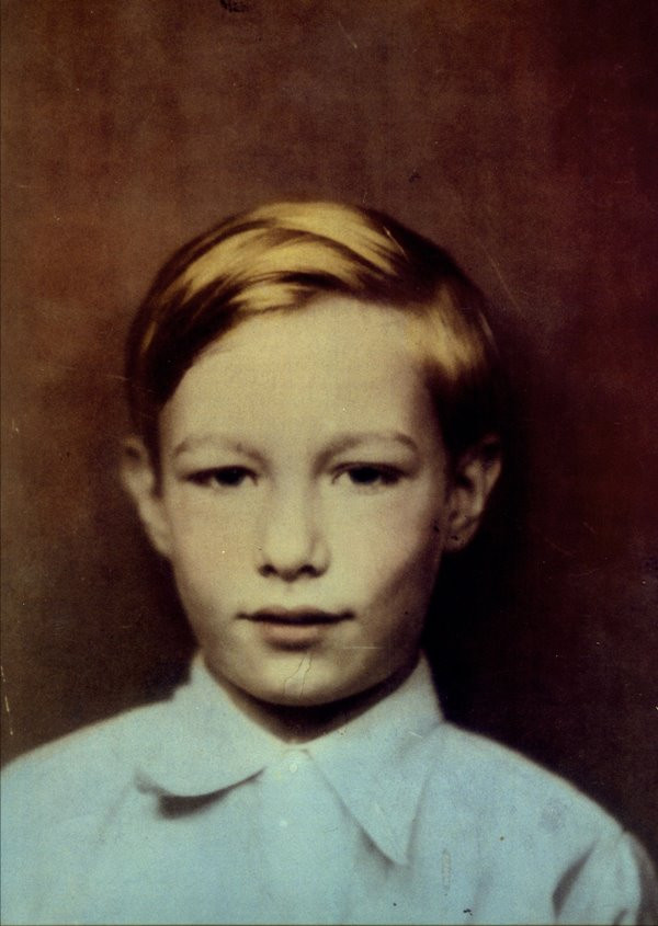 a young Andy Warhol, at the Warhol Museum
