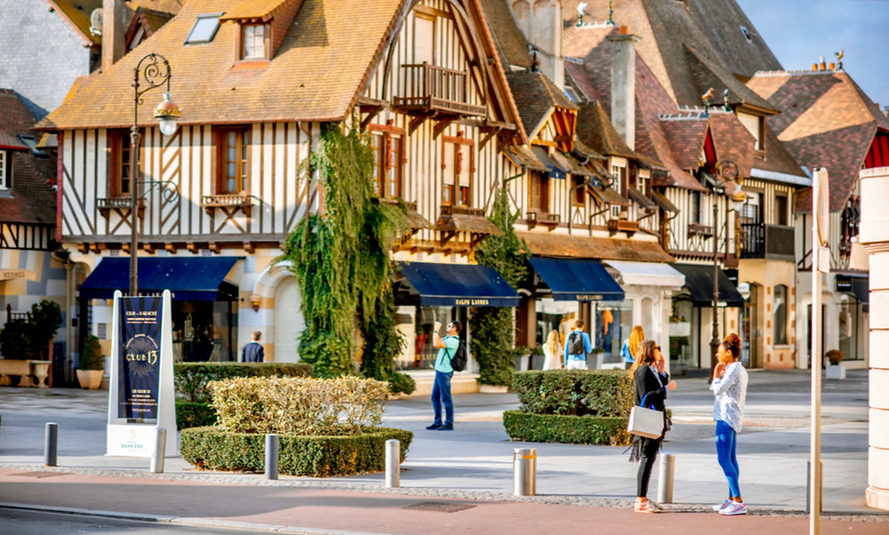 the resort town of Deauville in Normandy