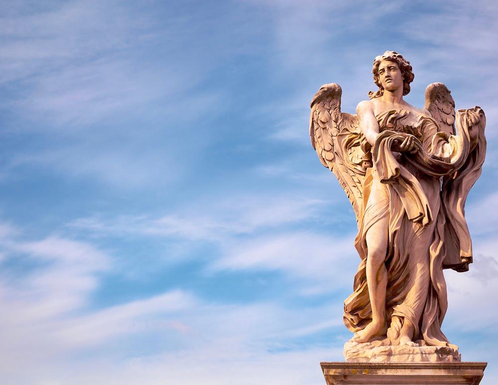 Bernini-designed angel on the Bridge of Angels