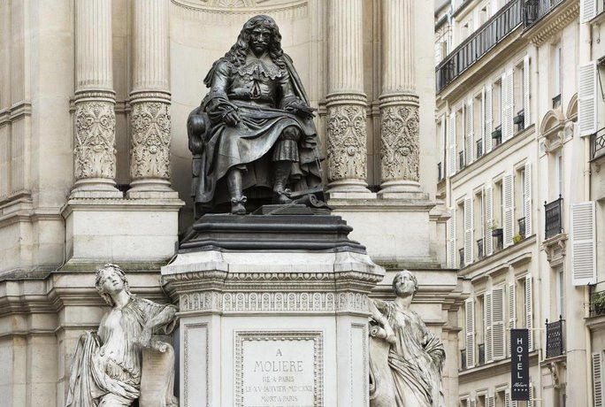 The Fontaine Molière -- a fountain in the 1st arrondissement of Paris, at the junction of rue Molière and rue de Richelieu.