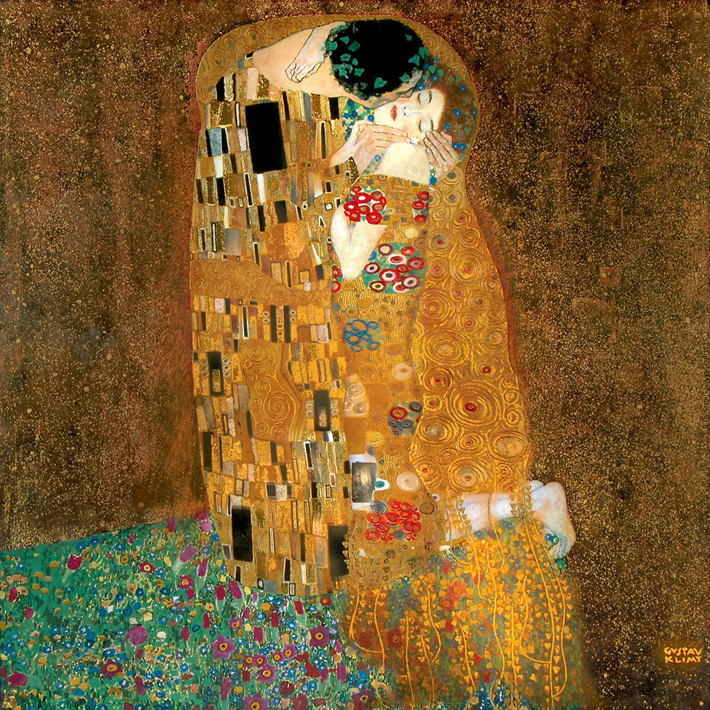Gustave Klimt, The Kiss, 1907-08 -- in the Belvedere Palace in Vienna