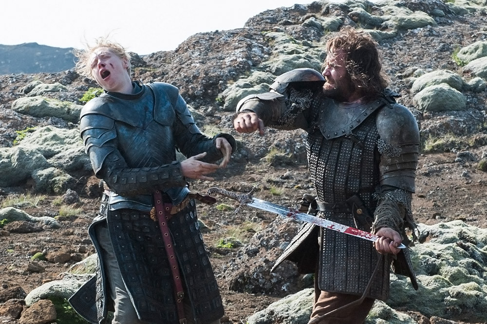 Brienne and the Hound battle in the Season 4 finale filmed in Thingvellir Park