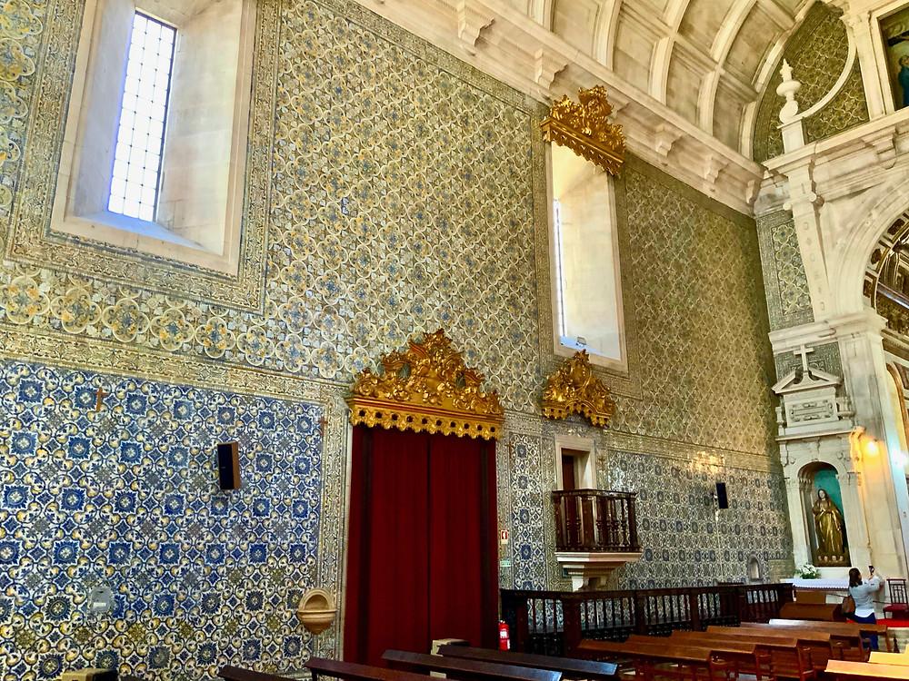 azulejo tile panel in the Misericordia church in Aveiro