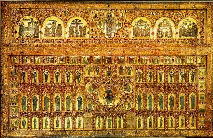 famed golden altar panel, the Pala d'Oro