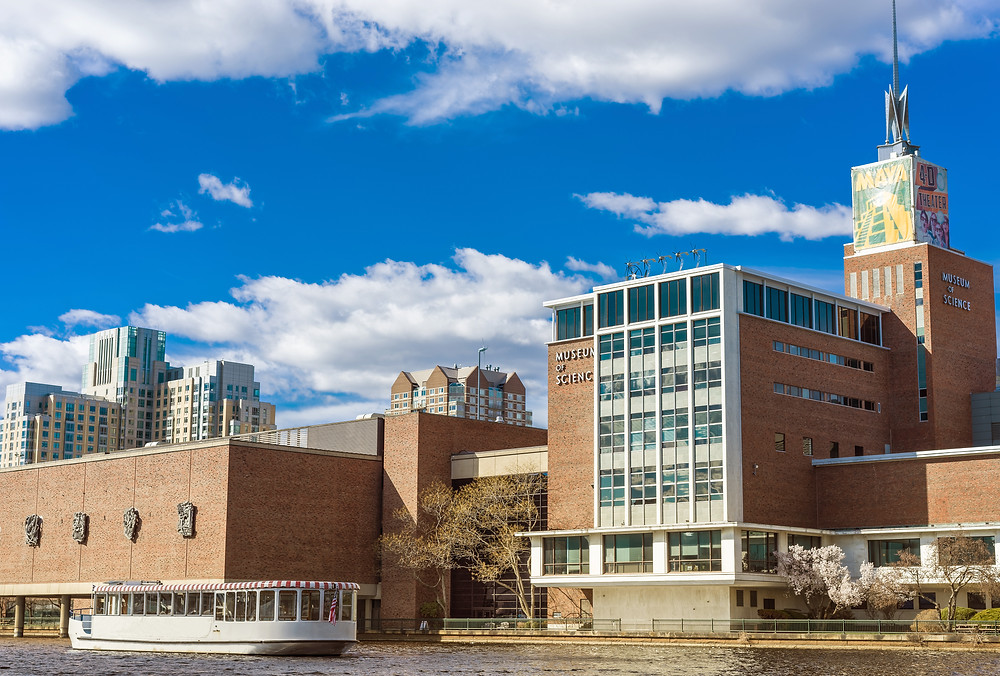Boston's popular Museum of Science right on the Charles River