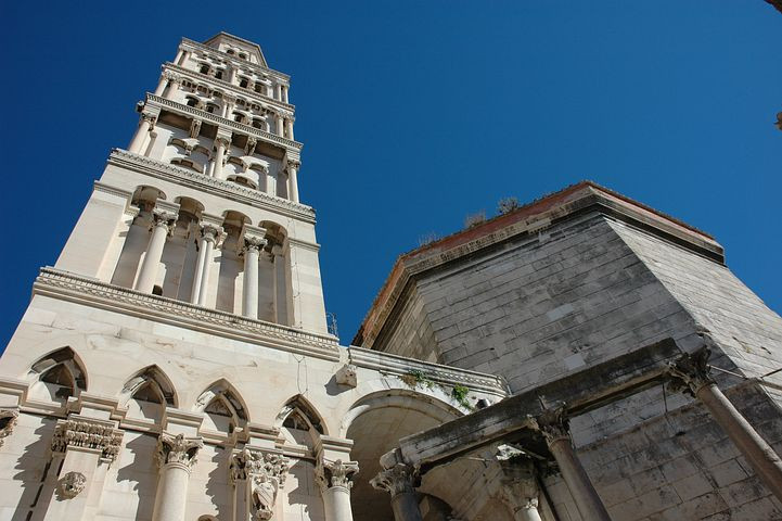 the bell tower of Diocletian's Palace