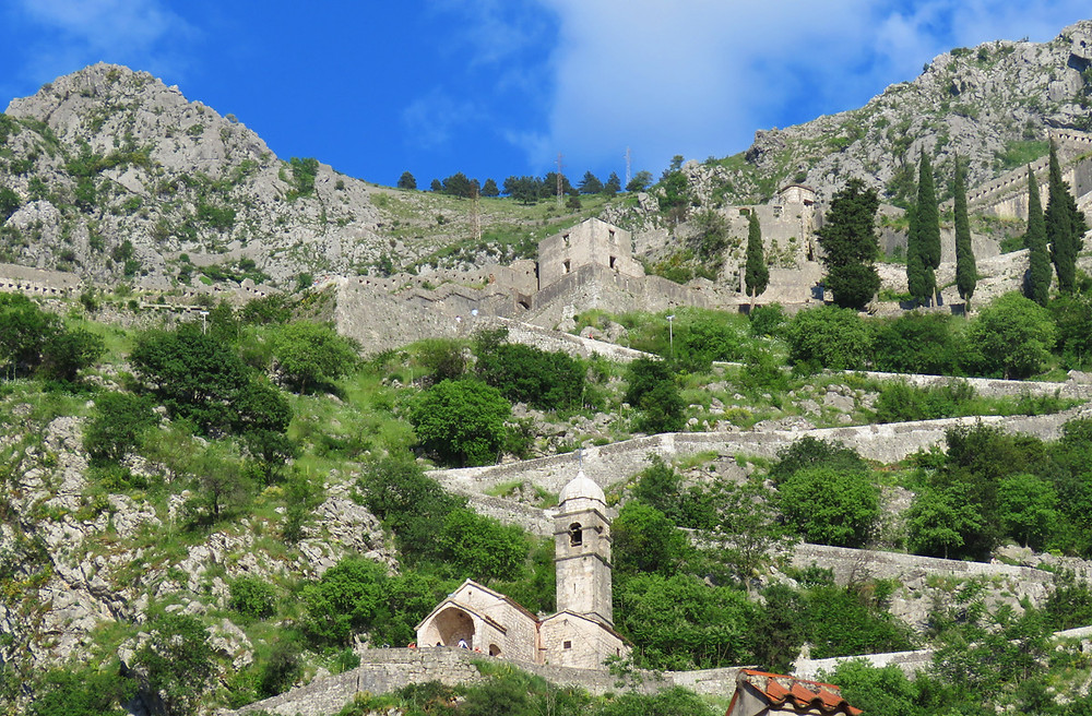 the Church of Our Lady of Remedy on the zig zagging climb to the fortress