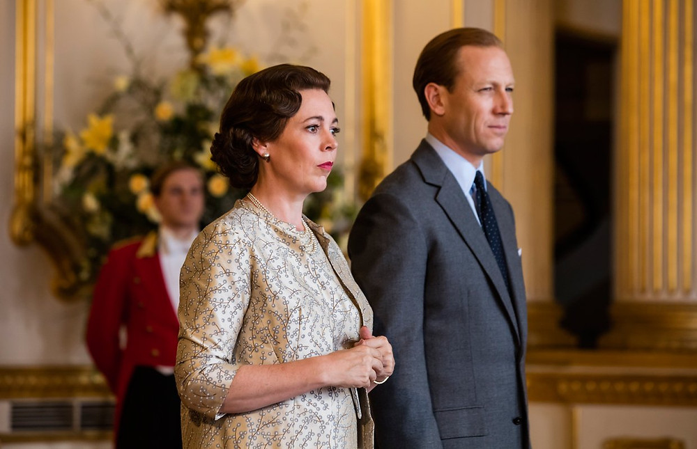 Olivia Coleman plays Queen Elizabeth and Tobias Menzies plays Prince Phillip