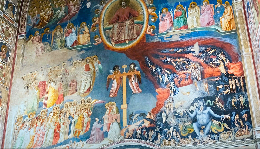 Giotto's massive fresco, The Last Judgment in the Scrovegni Chapel
