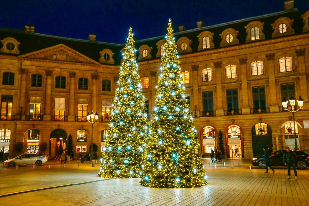Christmas trees on the Place Vendome