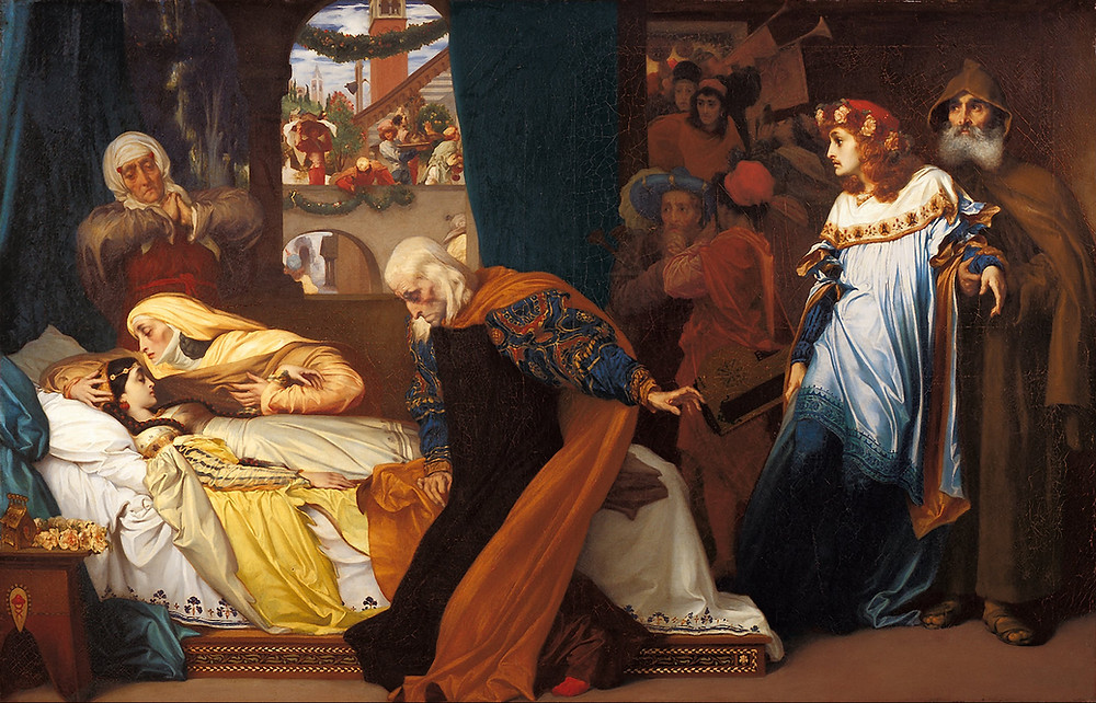 Frederic Leighton, The Feigned Death of Juliet, 1856