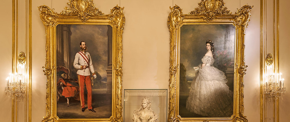 portraits of Franz Joseph and Empress Sisi