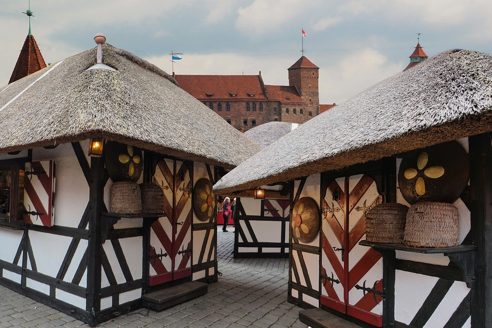 adorable stalls at the Nuremberg Christmas market