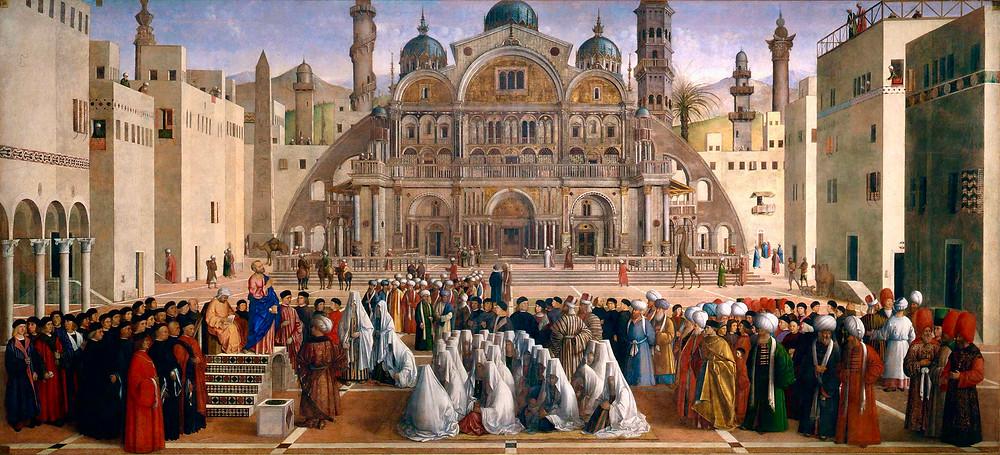 Giovanni Bellini, St. Mark Preaching in Alexandria, 1504-07
