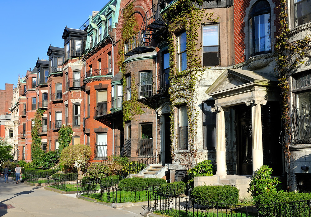 Victorian homes in the Back Bay
