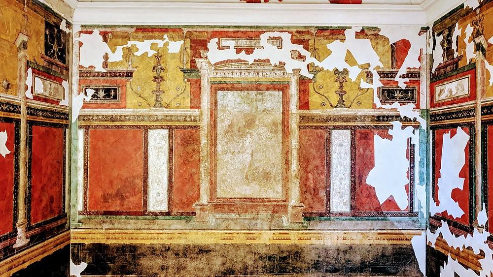 Pompeiian fresco in the Emperor's Study of the House of Augustus