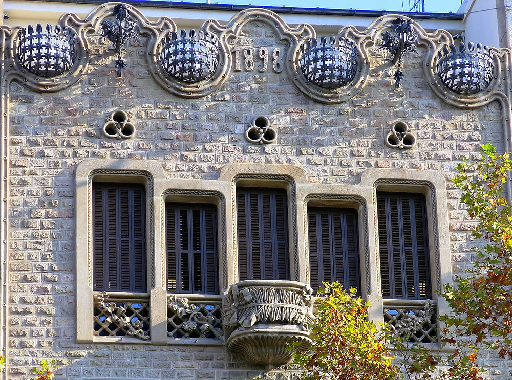 detail of building on Passeig de Gracia