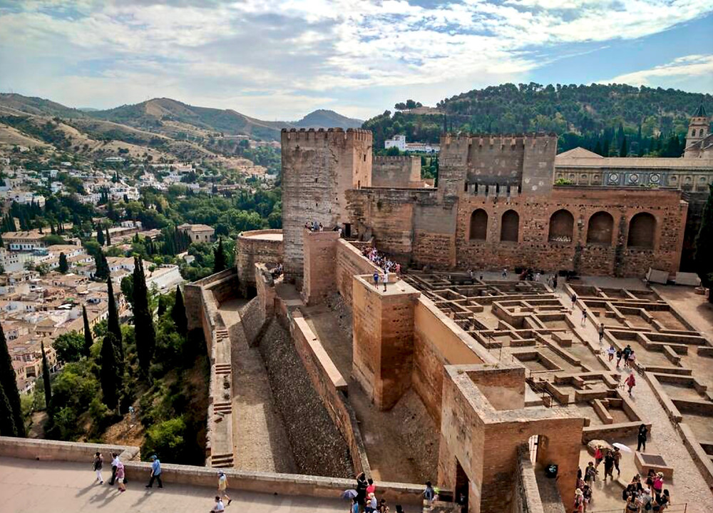 the Alcazaba fortress of the Alhambra