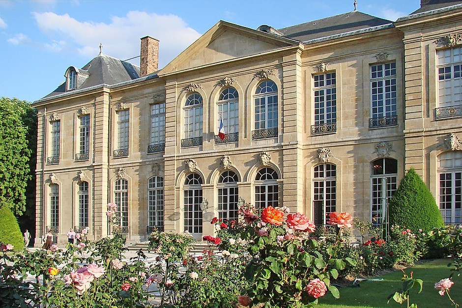 the beautiful Rodin Museum in Paris, housed in the Hotel Biron