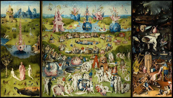 Hieronymus Bosch, The Garden of Earthly Delights, 1504 -- in the Prado