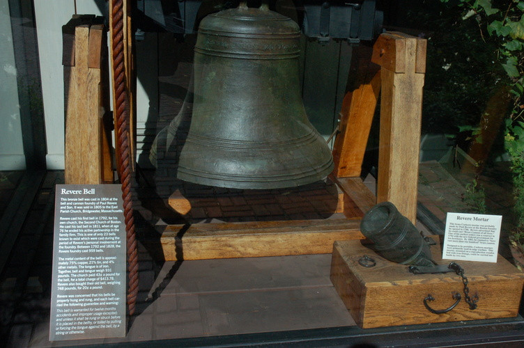 a Paul Revere bell outside his house