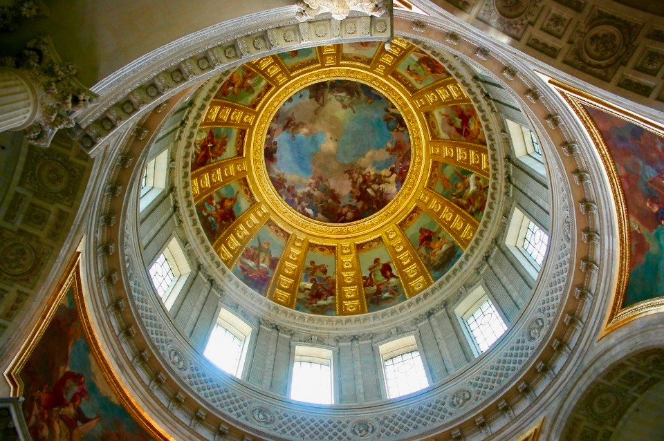 the interior of the dome of Les Invalides