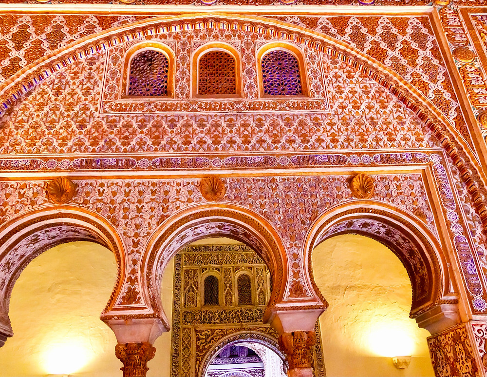 ornate decorations in the Alcazar
