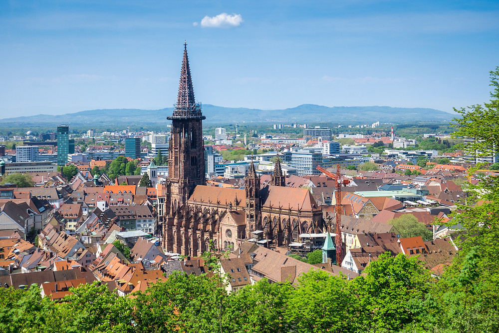 view of Freiburg Cathedral