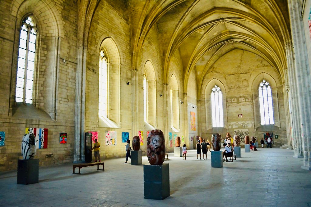 the Consistory Hall in the Pope's Palace in Avignon France