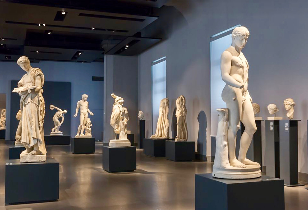gallery in the Palazzo Massimo alle Terme in Rome Italy