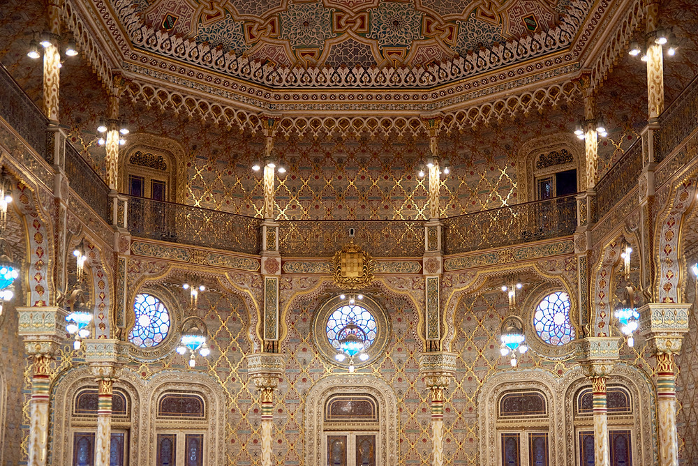 the Moorish Room in the Bolsa Palace
