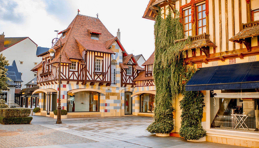 the glamorous resort town of Deauville in Normandy