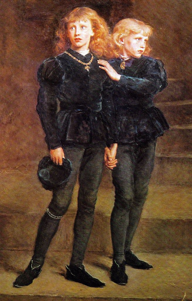 John Everett Millais, The Two Princes Edward and Richard in the Tower, 1483