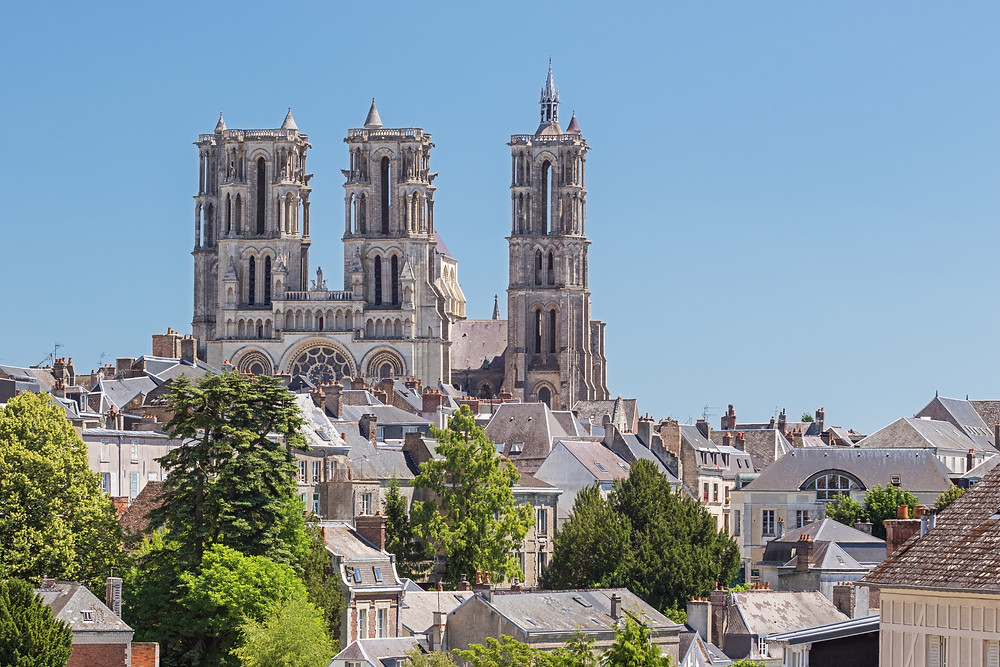 the majestic Laon cathedral