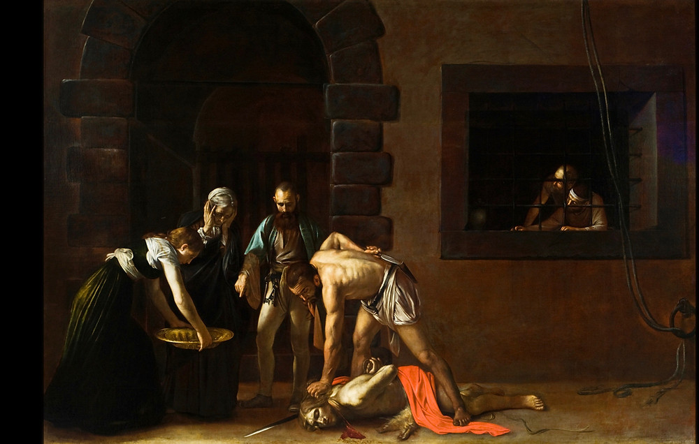 Caravaggio, The Beheading of St. John the Baptist, 1608 (in Valletta Malta)
