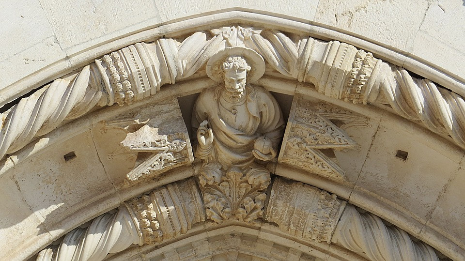 detail of St. James Cathedral in Sibenik