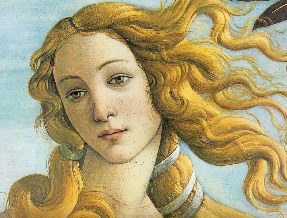 detail from Botticelli's Birth of Venus