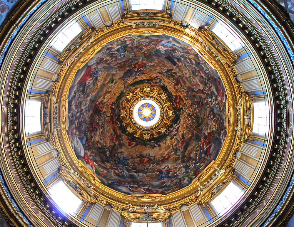 fresco in the dome of Sant'Agnes