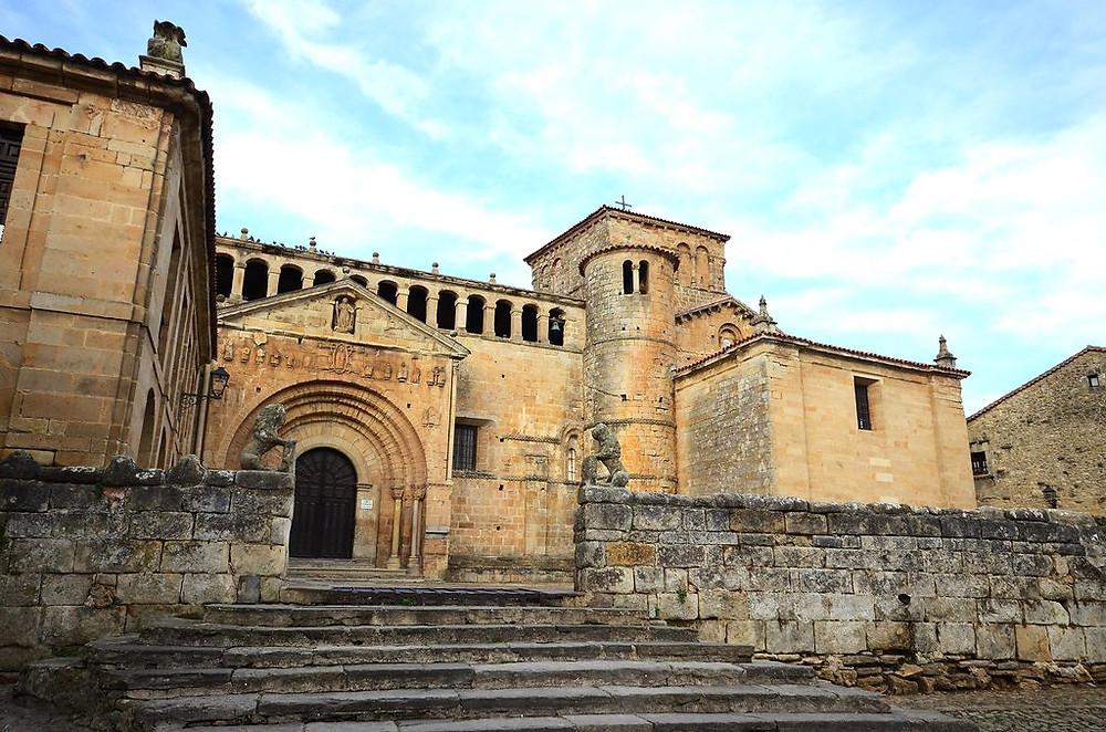La Colegiata, an important Romanesque church in Santillan del Mar