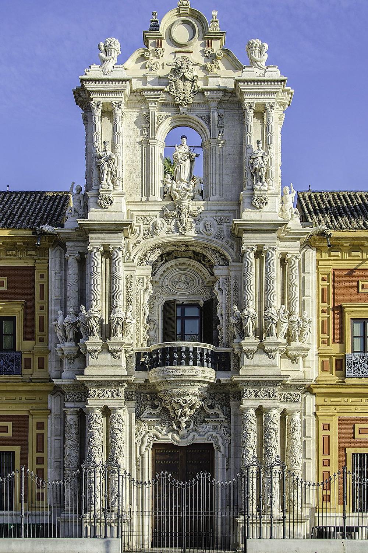 the ornate portal of San Telmo