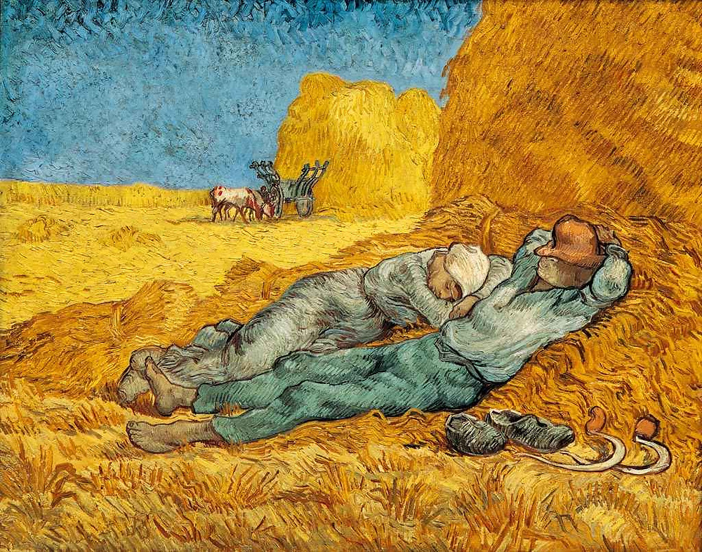 Van Gogh, Noon: Rest from Work, 1890 -- in the Musee d'Orsay