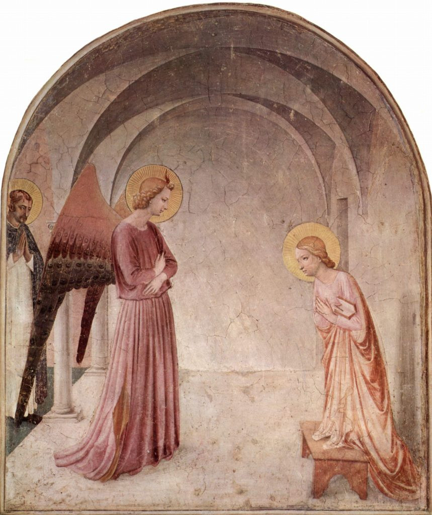 Fra Angelico, Annuciation, 1438 -- in Cell 3