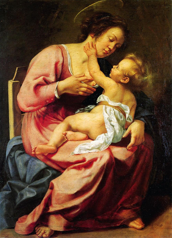 Artemisia Gentileschi, Madonna and Child, 1610-13