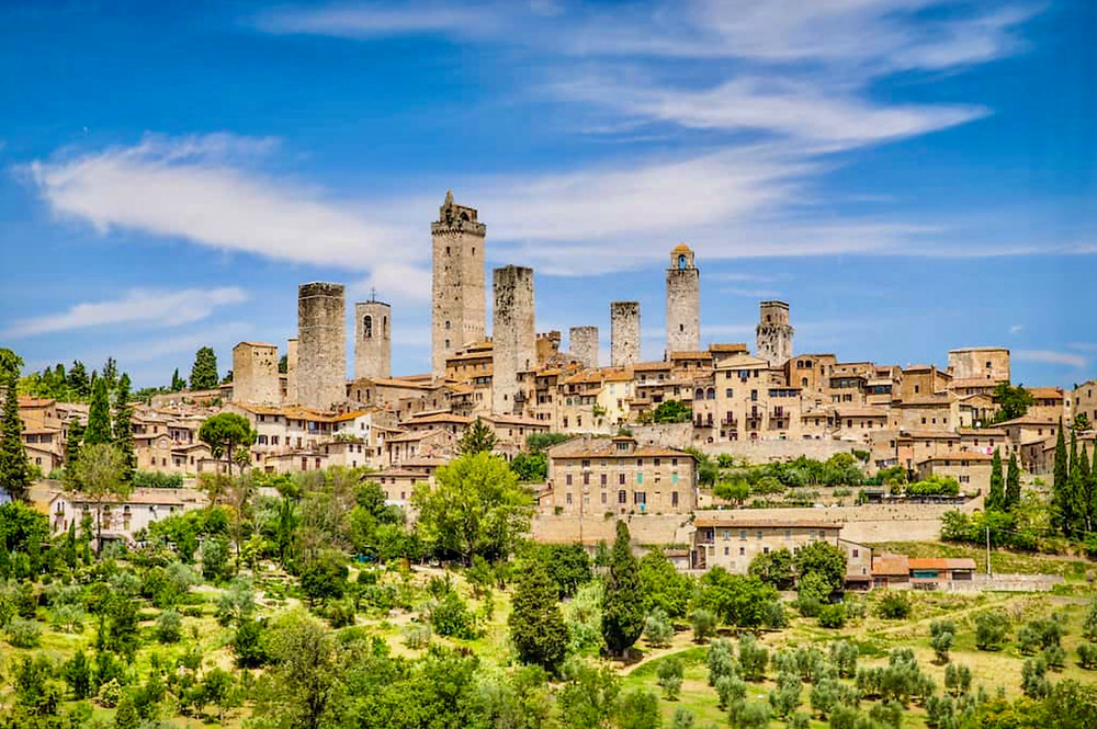 spiky towers in San Gimignano