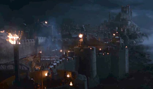 the wildfire explosion in Kings Landing harbor during the Battle of the Blackwater