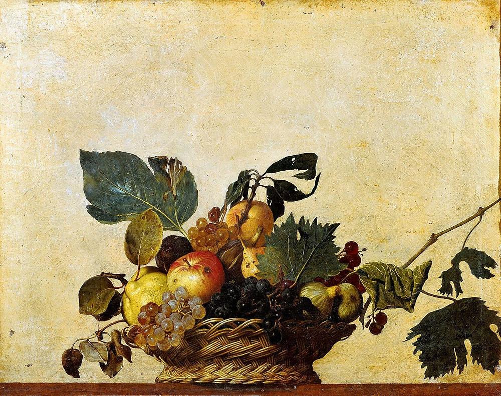 Caravaggio, Basket of Fruit, 1599 -- Pinacoteca Ambrosiana